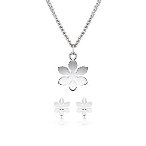 Set Divine Flower Ohrstecker & Necklace